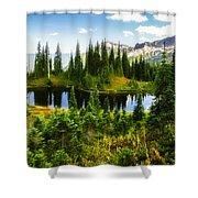 30920-55 Trailside Lake Shower Curtain