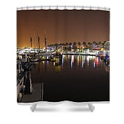 Long Beach Marina- California Shower Curtain