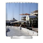 Views Of Santorini Greece Shower Curtain