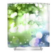 Abstract Circles 51 Shower Curtain