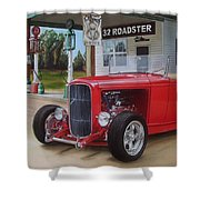 32 Ford At Filling Station Shower Curtain