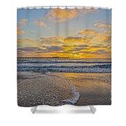 Ocean Beach Pier Sunset Shower Curtain