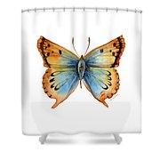 33 Opal Copper Butterfly Shower Curtain