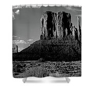 Rock Formations On A Landscape Shower Curtain