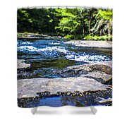 The Stream In Mountain Shower Curtain