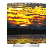 333 Marine Sunrise Shower Curtain