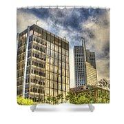 345 California Center Two Flags Shower Curtain