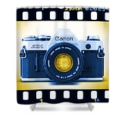 35mm Blues Canon Ae-1 Shower Curtain