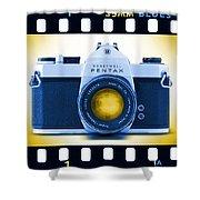 35mm Blues Pentax Spotmatic Shower Curtain