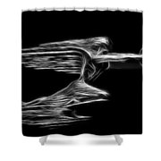 36 Packard Hood Orament Shower Curtain
