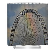 360 Rainbow  Shower Curtain