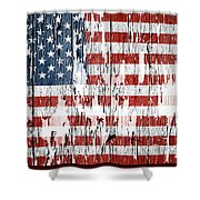 American Flag 49 Shower Curtain