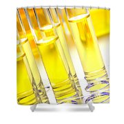 Laboratory Test Tubes In Science Research Lab Shower Curtain