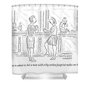 I Hate To Admit Shower Curtain