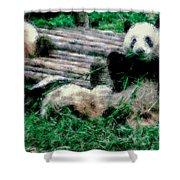 3722-panda -  Pastel Chalk 1 Shower Curtain