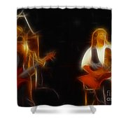 38 Special-94-larry N Jeff-gb20a-fractal Shower Curtain