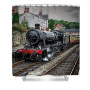 3802 At Llangollen Station Shower Curtain