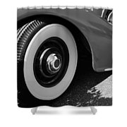 39 Lincoln Zephyr Fender  Shower Curtain