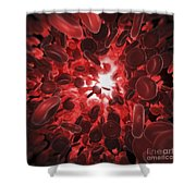 Red Blood Cells Shower Curtain