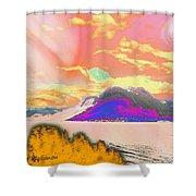 Space Landscape Shower Curtain