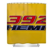 392 Hemi In Yellow Shower Curtain