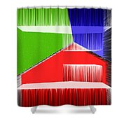 3d Abstract 3 Shower Curtain by Angelina Vick