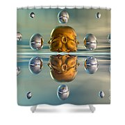 3d Concept Showing The Advancement Shower Curtain