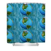 3d Render Of Planet Earth 1 Shower Curtain