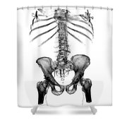 3d Skeletal Reconstruction Shower Curtain