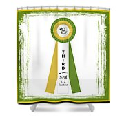 3rd Ribbon Shower Curtain