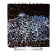 Harsh Winters Forecast Shower Curtain