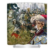 Chart Polski - Polish Greyhound Art Canvas Print Shower Curtain