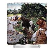 Irish Setter Art Canvas Print Shower Curtain