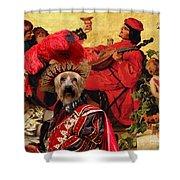 Silky Terrier Art Canvas Print Shower Curtain