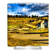 #18 At Chambers Bay Golf Course - Location Of The 2015 U.s. Open Tournament Shower Curtain