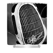 1935 Alfa Romeo 8c-35 Grille Emblem -0006bw Shower Curtain