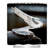 1935 Chevrolet Hood Ornament Shower Curtain