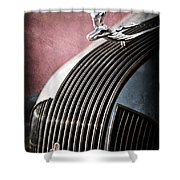 1935 Pontiac Sedan Hood Ornament Shower Curtain