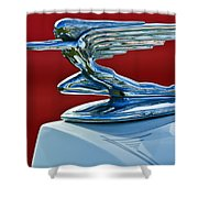 1936 Packard Hood Ornament Shower Curtain