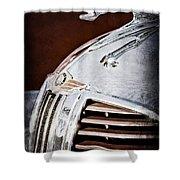 1938 Dodge Ram Hood Ornament Shower Curtain