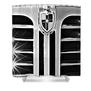 1948 Lincoln Continental Grille Emblem Shower Curtain