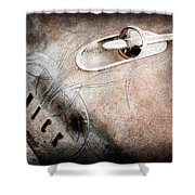 1954 Buick Special Hood Ornament Shower Curtain
