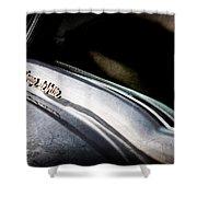 1954 Cadillac Coupe Deville Emblem Shower Curtain