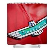 1956 Ford Thunderbird Emblem Shower Curtain
