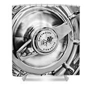 1957 Chevrolet Corvette Wheel Shower Curtain