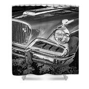 1957 Studebaker Golden Hawk Bw  Shower Curtain