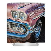 1958 Chevrolet Bel Air Impala Painted  Shower Curtain
