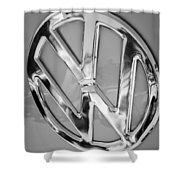 1959 Volkswagen Vw Panel Delivery Van Emblem Shower Curtain