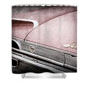 1960 Ford Galaxie Starliner Taillight Emblem Shower Curtain