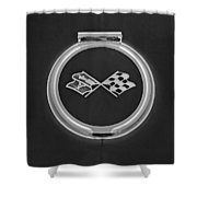 1967 Chevrolet Corvette Emblem Shower Curtain